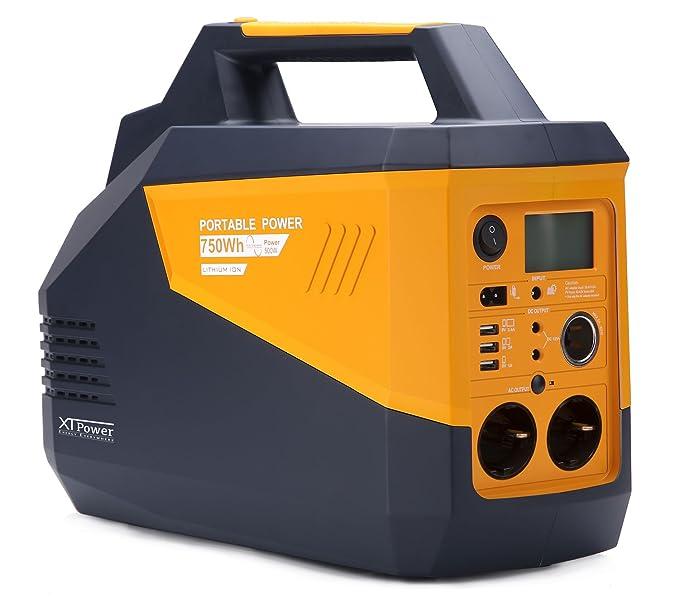 XTPower® XT-750Wh Energiespeicher - für AC Versorgung 230V/50Hz bis zu 500W - zusätzlich 2X 12V, 1x KFZ und 3X USB – Ladung ü