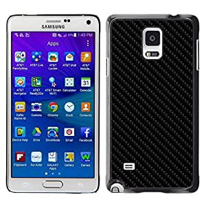 LOVE FOR Samsung Galaxy Note 4 CARBON PATTERN IMITATION Personalized Design Custom DIY Case Cover
