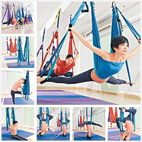 Soogo Anti Gravity Aerial Yoga Hammock Yoga Swing Fitness Inversion Aerial Yoga Trapeze Exercise Tool Pilates Spine Supporter