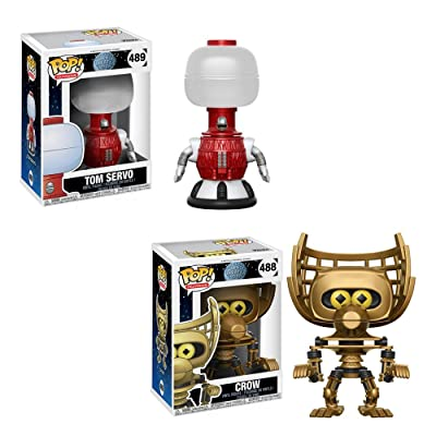 Funko Pop Television Mystery Science Theater 3000 Crow #488, Tom Servo #489 Vinyl Figures SET: Toys & Games [5Bkhe0706692]