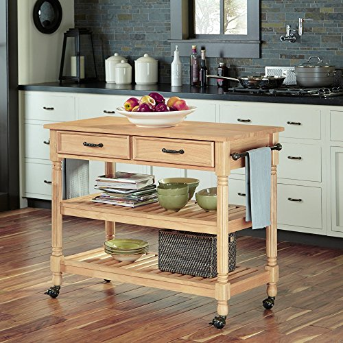 Home Styles 5318-95 Savannah Natural Kitchen Cart Maple NEW