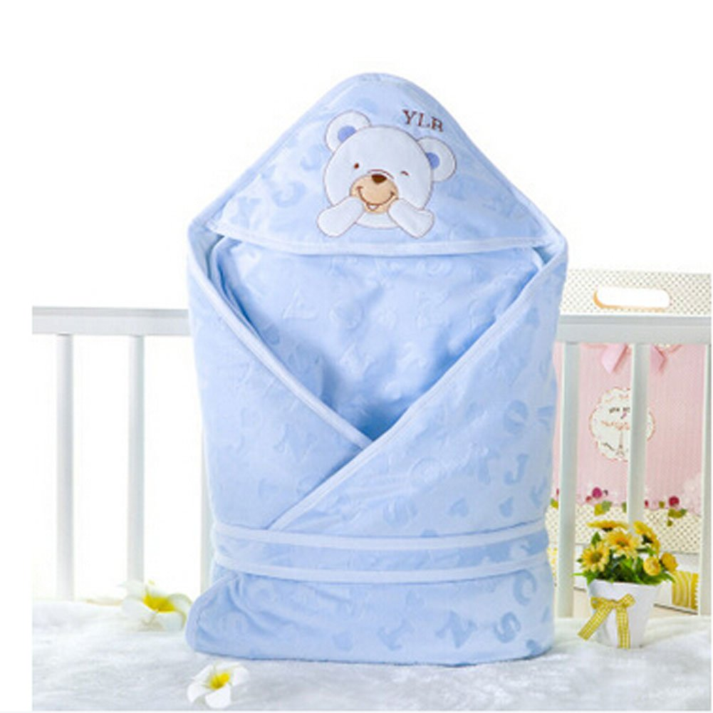 Winter//Fall Thicken Cotton Swaddle Baby Adjustable SleepBag blue