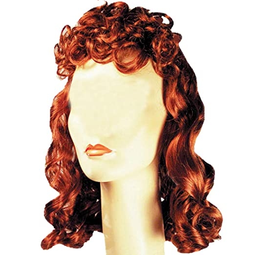1940s Hair Snoods- Buy, Knit, Crochet or Sew a Snood Movie Queen 1940s Color Auburn - Lacey Wigs Womens Stanwyck Bette Davis Bergman Curly Bundle Costume Wig Care Guide $39.89 AT vintagedancer.com