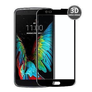 E-Hamii LG K7 (Negro) Película Protectora 3D Curvada Protector Completo de la Cobertura Proteccion de Vidrio Templado 9H Anti-Cero Protector de Pantalla Completa HD: Amazon.es: Electrónica