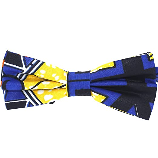 016bfb94e708 Genuine African Wax Fabric Men's Bow Tie by Tok Tok Designs (B422 ...