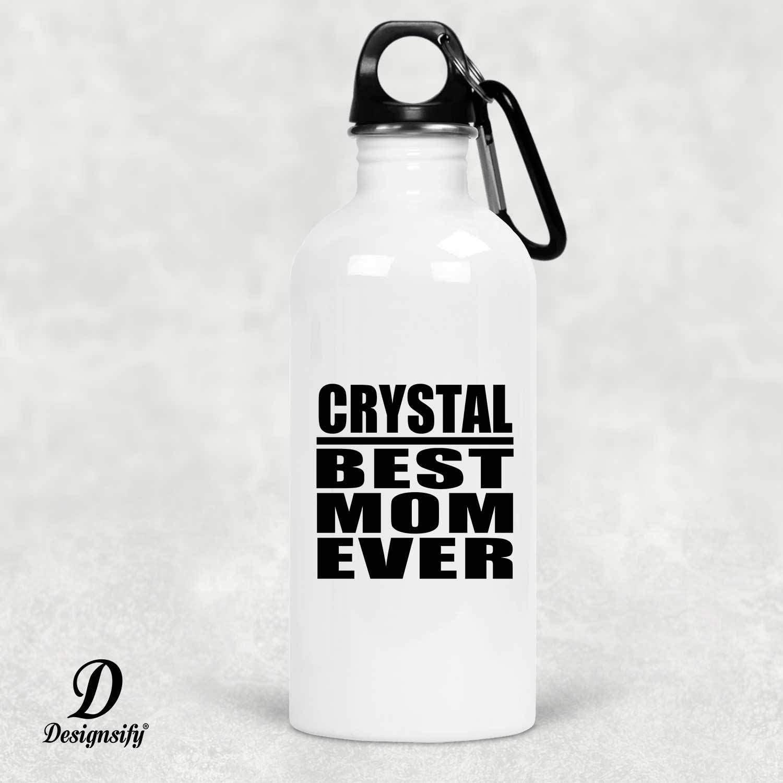 Designsify Crystal Best Mom Ever - Water Bottle Botella de Agua ...