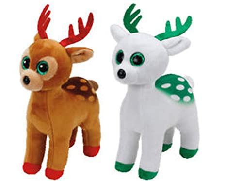 185908f7ca2 Image Unavailable. Image not available for. Color  Beanie Babies Reindeer  Gift Pack TInsel and Peppermint