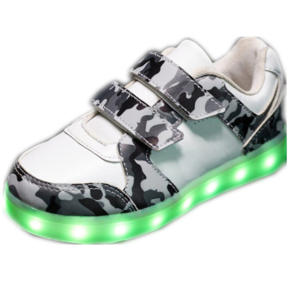 Fashion LED Light up Shoes USB Rechargeable Flashing Sneakers for Kids Boys Girls