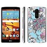 [ArmorXtreme] Phone Case for LG G Stylo LS770 / LG G4 Note Stylus / LG G Stylo H631 / MS631 [Clear] [Ultra Slim Cover Case] - [Teal Flower Décor] -  ArmorXtreme for LG G Stylo H631