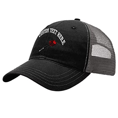 2eff52607e1 Amazon.com  Custom Soft Tip Dart Unisex Adult Snaps Cotton Richardson  Unstructured Front and Mesh Back Cap Adjustable Hat - Black Charcoal   Clothing