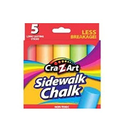 CRA-Z-Art Fat Sidewalk Chalk Non Toxic Less Breakage: Toys & Games