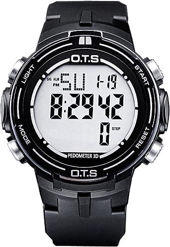 PALADA - Reloj digital deportivo para hombre con podómetro de ...