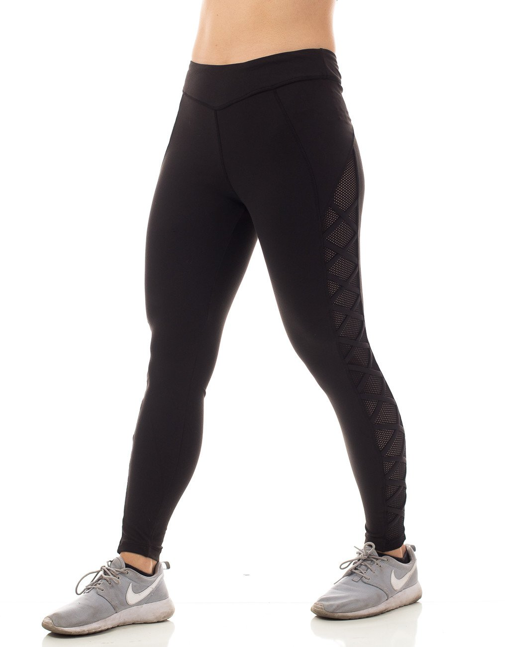 Figur Activ Full Yoga Legging with Side Criss Cross Mesh Style with V Front