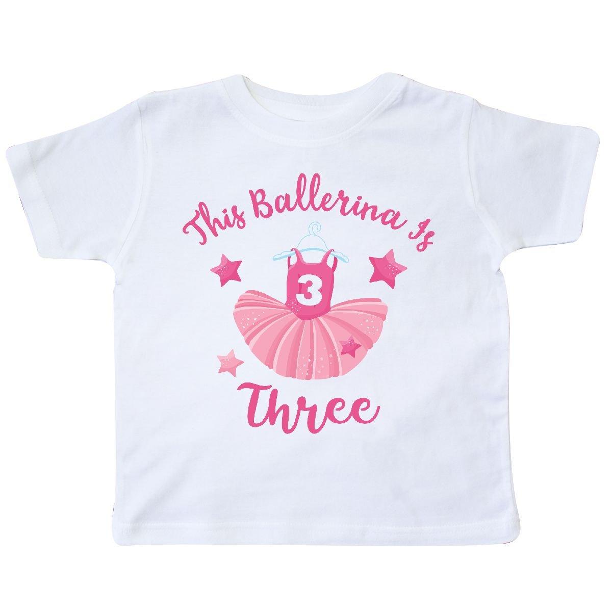 inktastic Ballerina 3rd Birthday Toddler T-Shirt