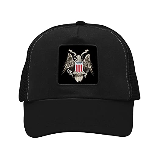 RedRoo American Eagle Cool Baseball Caps Adjustable Dad Hat for Men   Women  Black d0153017f98f