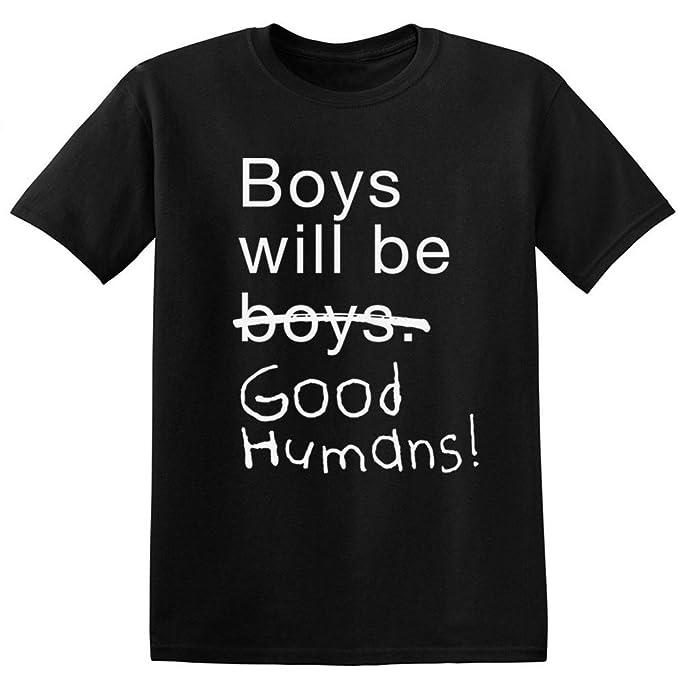 05559303b4ea Amazon.com  Boys Will Be Good Humans Baby Kids T-Shirt  Clothing
