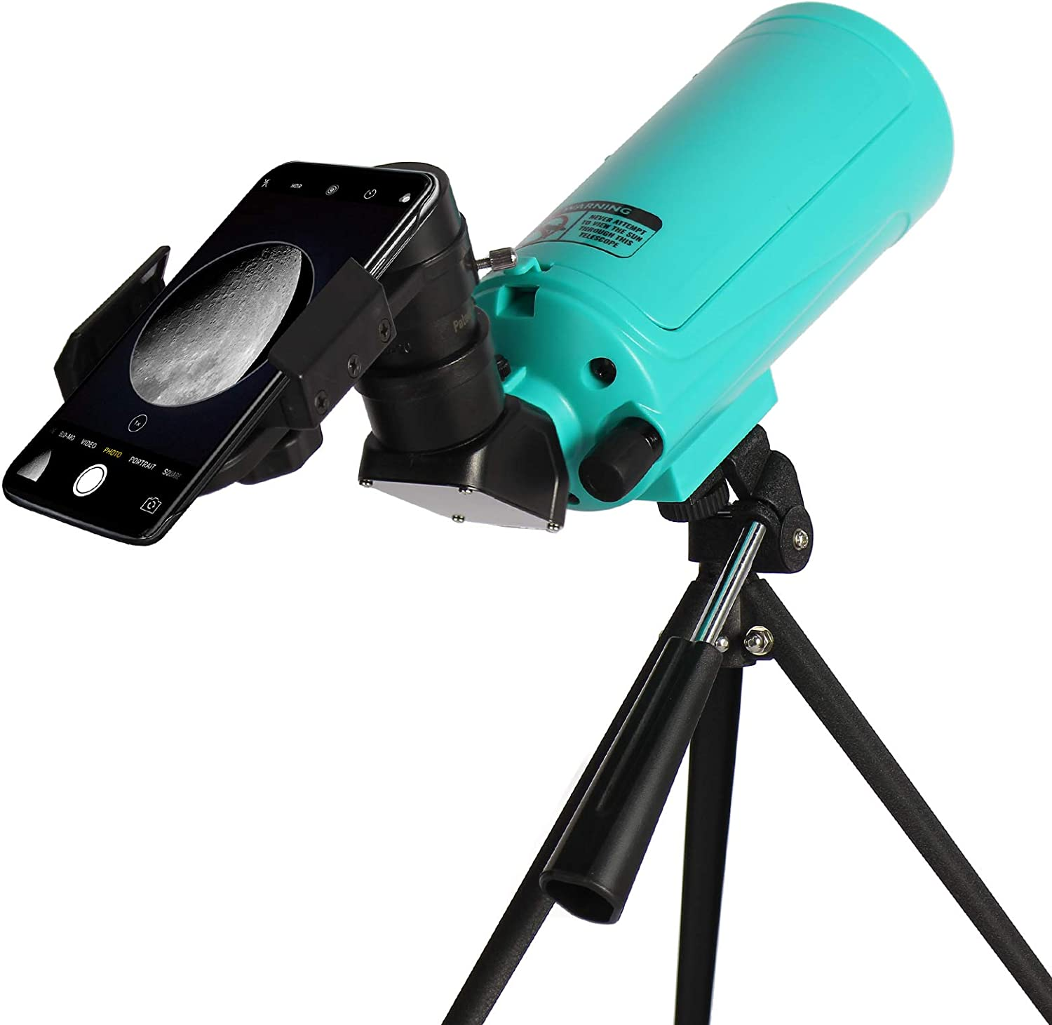 Maksutov-Cassegrain Telescope for Adults Kids Astronomy Beginners, Mak60 Reflector Telescope with Tabletop Tripod and Phone Adapter, Compact and Portable, for Viewing The Moon Planets Stars
