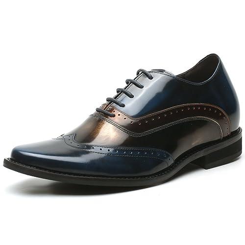 low priced e776b 17410 CHAMARIPA Scarpe con Rialzo Eleganti Oxford Uomo di Pelle ...