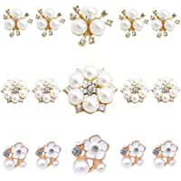30 botones de perlas de imitación para decoración