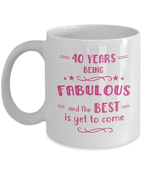 Amazon.com: Happy 40th cumpleaños taza – 40 Año de ...