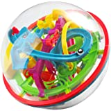 WETONG Maze Ball Game 3D Intellect Ball with 100 Challenging Barriers 3D Labyrinth Ball for Kids 3D Puzzle Toy Magical Maze Ball Brain Teasers Puzzle Ga