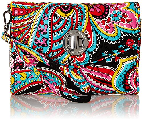Vera Bradley Your Turn Smartphone Wristlet Wallet Parisian Paisley One Size