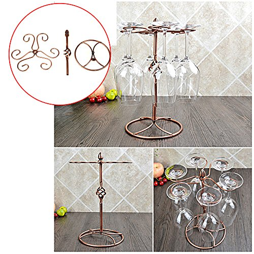Ieasycan Homeware Waist Style Wine Hanging Upside Down Cup Holder Goblet Rack by ieasycan