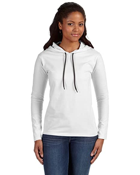 a0fdb6d7bc0 Image Unavailable. Image not available for. Color  Anvil Womens Lightweight  Long-Sleeve Hooded T-Shirt ...