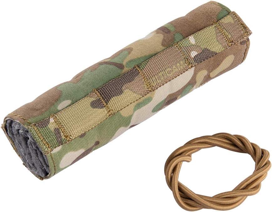 Multicam 18Cm//7 Suppressor Silencer Heat Cover Shield Sleeve Muffler Shooting