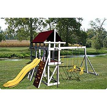 Jungle Gym For Sale >> Amazon Com Dutchcrafters Backyard Jungle Gym Explorer Level