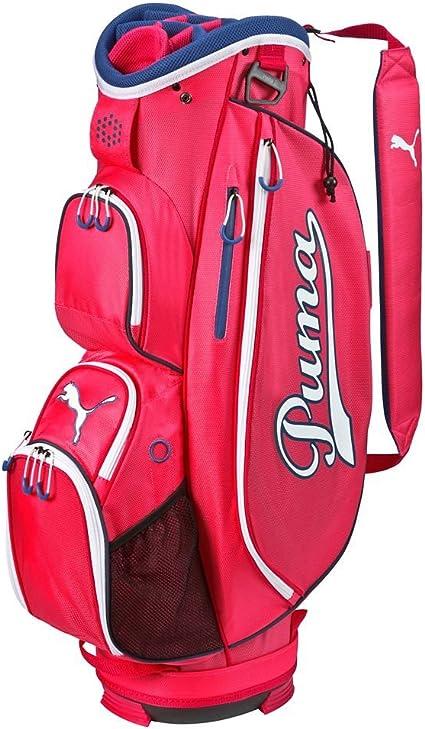 Funeral apretón papelería  Amazon.com: Puma Superlite carro bolsa de golf nuevo 2016 – Rose Red- 14  Way parte superior w/7 bolsillos, osfa: Sports & Outdoors