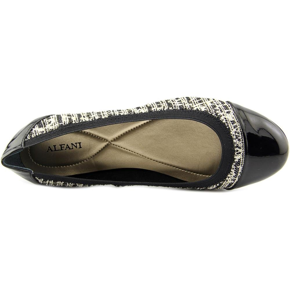 Closed Jemah Toe Negro Ballet Oro Flats Womens Alfani EgqFax