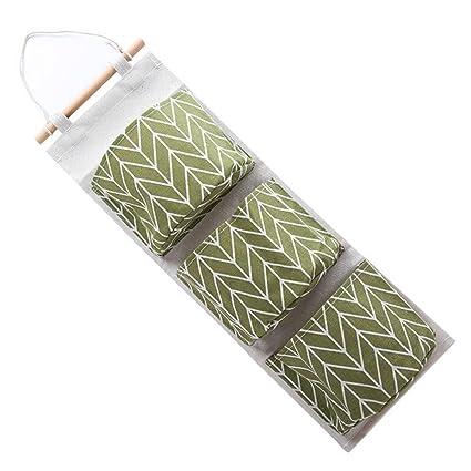 Cesta de tela pequeña, Montado en la pared 3 bolsas de almacenamiento bolsa de cocina