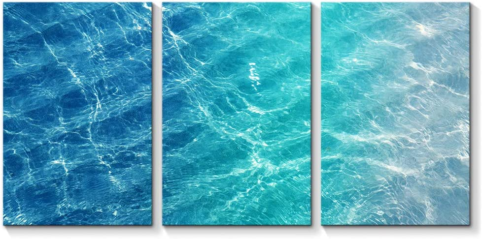SIGNFORD 3 Piece Canvas Wall Art for Living Room Bedroom Home Artwork Blue Ocean Sea Paintings Ready to Hang - 16