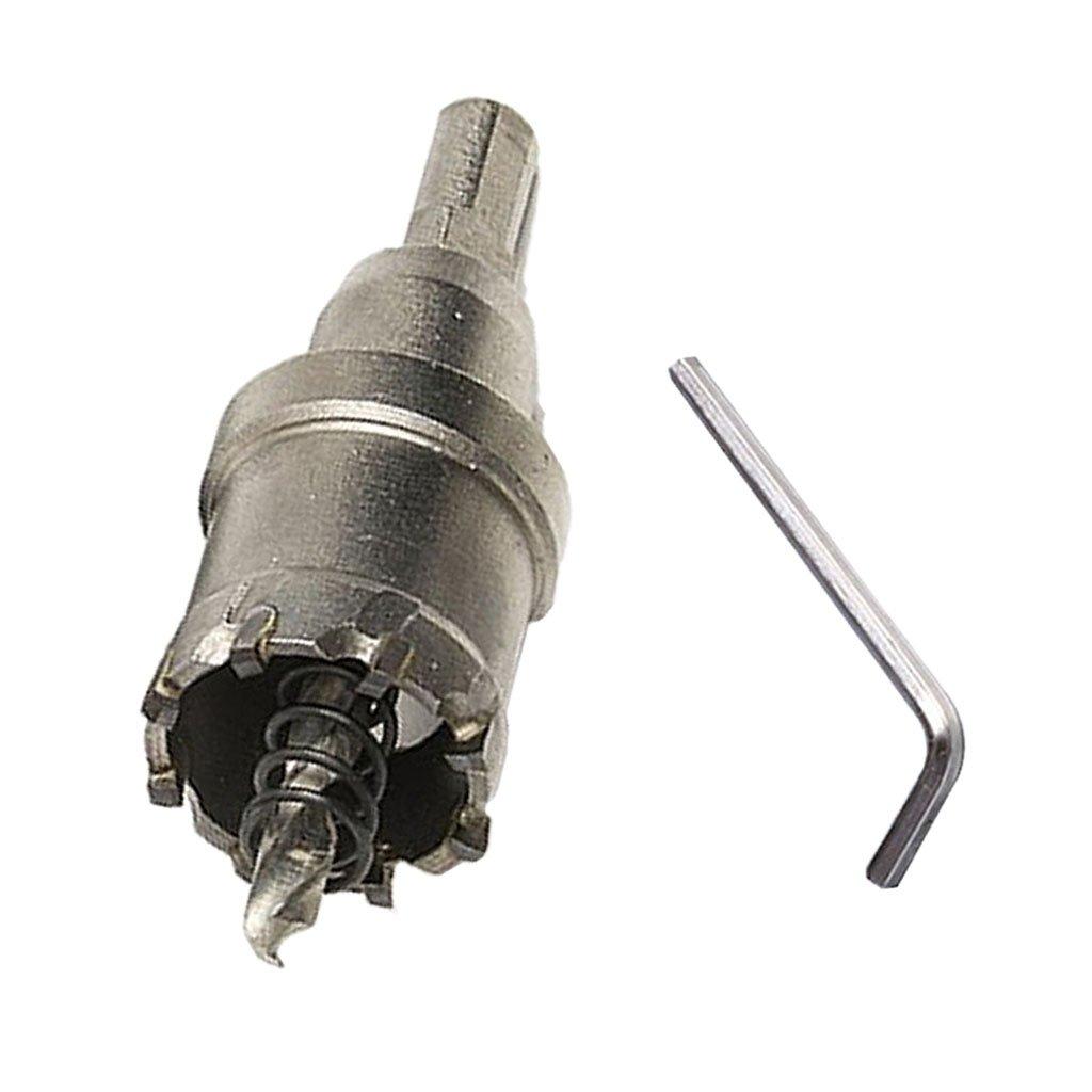 Gris fonc/é-26mm B Baosity Le Trou R/ésistant De Foret De TCT De Pointe De Carbure De 14mm De 50mm A Vu Le Coupeur Dacier Inoxydable