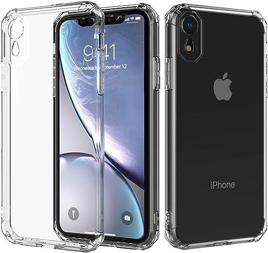 Xphone XR Coque cristal compatible avec Apple iPhone XR Coque de protection fine pour iPhone RX 10xr 10s 10r IP Luxe Funda TPU Transparent 6,1