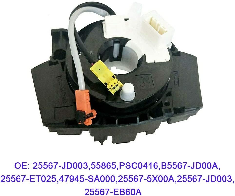 25567-ET025 B5567-JD00A PSC0416 25567-5X00A Replace OE# 55865 GM/_QY 25567-JD003 Clock Spring Cruise /& Functions for 2007-2012 Nissan Frontier 47945-SA000 2007-2012 Nissan Sentra