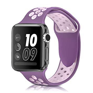 YOUKESI Apple Watch Correa 38mm, Silicona Suave Reemplazo Sport ...