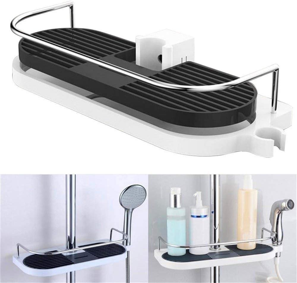 Kimmyer - Cesta de Ducha con Ganchos para champú, acondicionador, Cuarto de baño, Cocina, Organizador: Amazon.es: Hogar