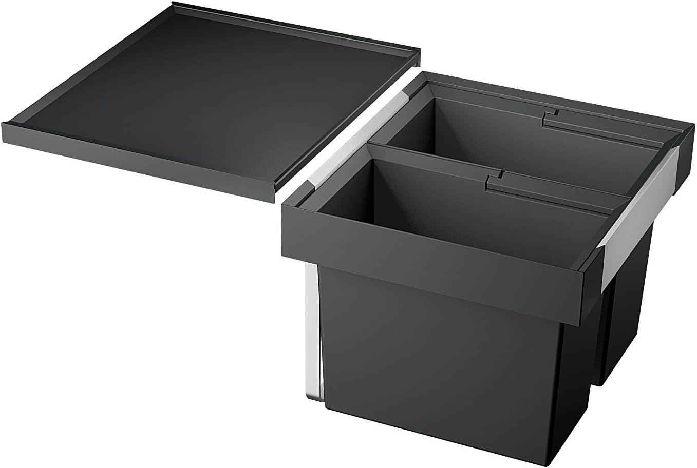Blanco Flexon II 2000/2000, Abfallsystem für die Mülltrennung in der Küche, mit  2000 Abfalleimern (200 x 200 l / 200 x 20 l), zur Montage in der Schublade eines 2000