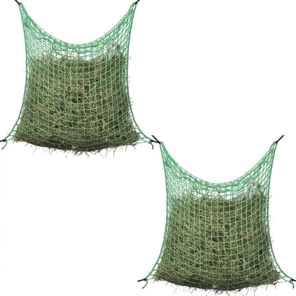 Tidyard 2 uds Redes para heno cuadradas Red Verde de jardín PP 0,9x2 m