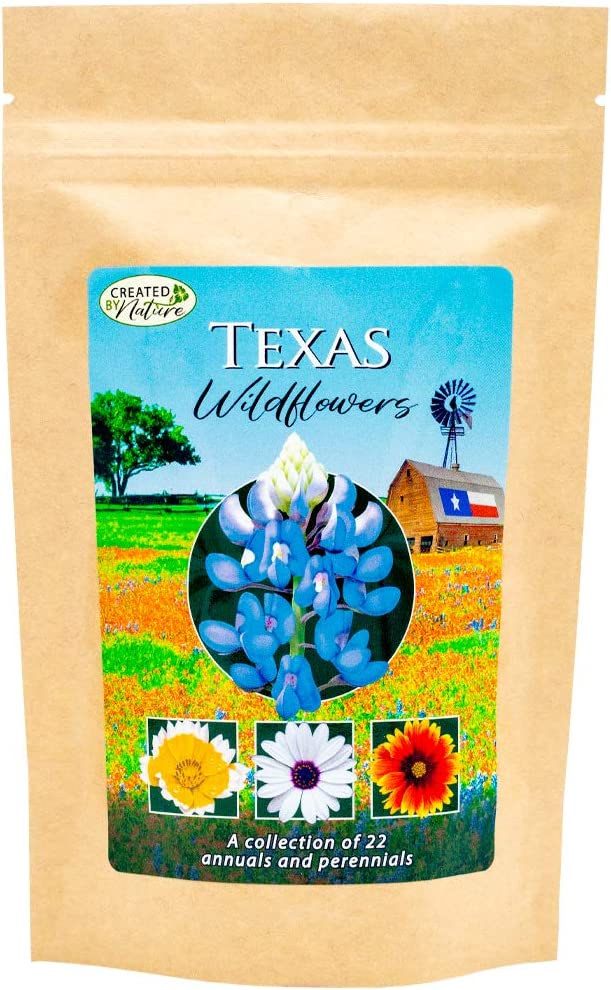 Texas Wildflower Seed Mix - Over 60,000 Premium Seeds - by 'createdbynature'