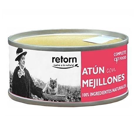Retorn Comida húmeda para gatos adultos atún con mejillones 80 gr