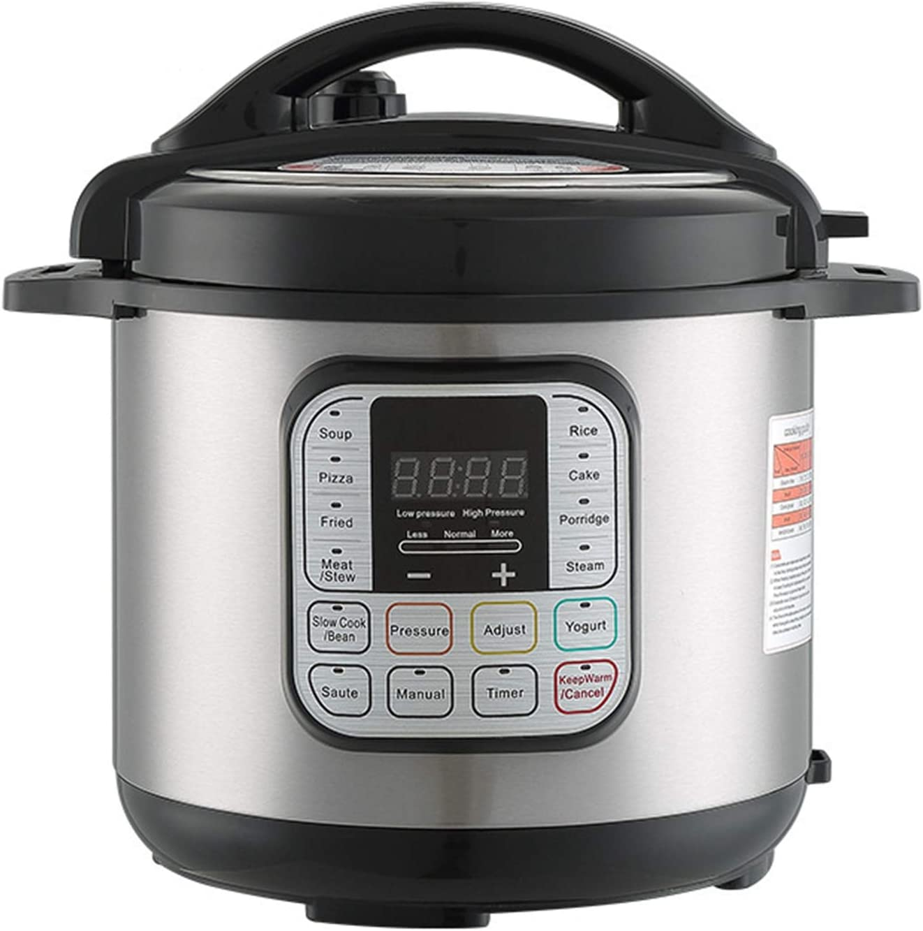 10-in-1 Electric Pressure Cooker, Sterilizer, Slow Cooker, Rice Cooker, Ceramic Non-Stick Interior Coated Inner Cooking Pot - 6L