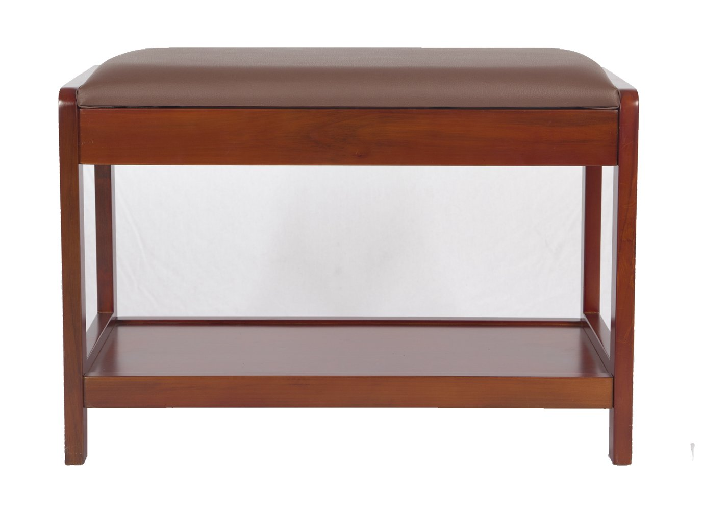 Yaker's collection Firm Wood Entryway Shoe Storage Bench Elegant Ottoman with Leather Padded