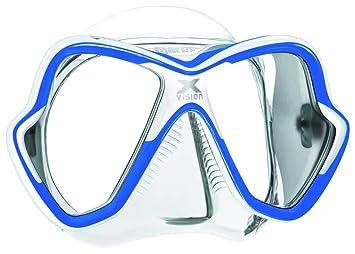 Mares X-Vision 14 - Gafas de buceo unisex, color azul/blanco,