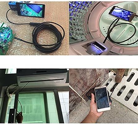 Snake ispezione videocamera FLOUREON Telecamere di ispezione Senza Fili Endoscopio Telecamera a Tubo 5m Impermeabile per iOS iPhone//Android Smartphone//PC Windows