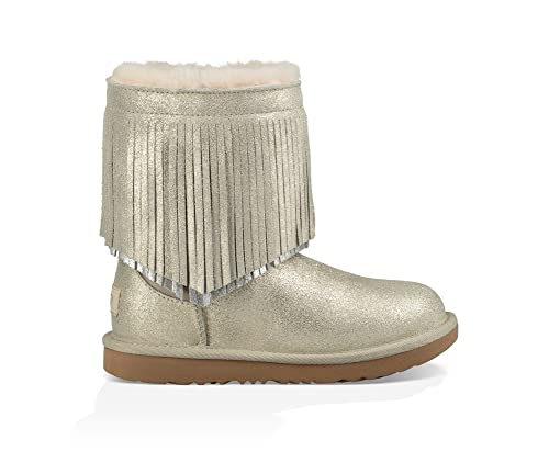 414b29b62b0 UGG Little Kids Classic Short II Fringe Boot Gold Size 8 Toddler M ...