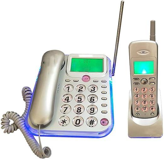 TTBB Teléfono inalámbrico Digital, Escuela de Oficina en casa, Gris Plateado, Adecuado para Pantallas Grandes para Personas Mayores, informes de Voz, intercomunicador Gratuito: Amazon.es: Hogar