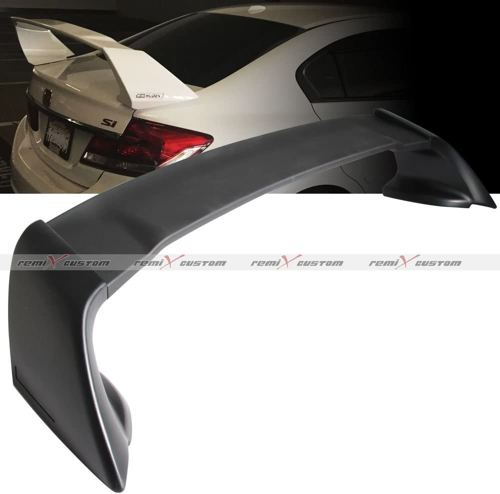 Rear Trunk Spoiler Wing 4-DR MUG Unpainted For 2012-2015 Honda Civic Style ABS